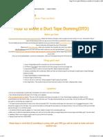 +3 Defense - How to make a DTD