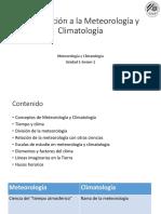 Semama 1. Introducción a La Meteorología y Climatología
