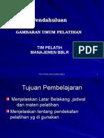I. Pendahuluan (Gambaran Umum Pelatihan)