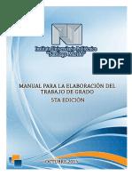 Manual Para La Elaboración Del Trabajo de Grado 2015