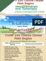 COMP 220 Course Career Path Begins Comp220dotcom