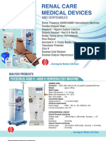 Renal Care Products by Hemant Surgical Industries Limited