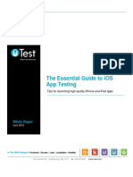 Guide to IOS App Testing