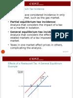 Public Economics Tax Incidence