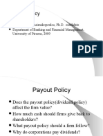 134 Payout Policy,2009