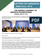 Newsletter 19 - Shareholders Meeting 2016