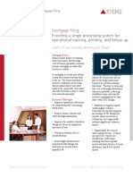 Case Study on Mortgage Filing Operational Tracking Printing and Followup
