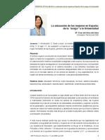 Educacion de Las Mujeres en España, De La Amiga a La Uni.