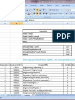 Excel Sheet for CGPA Calculator BE CSE R2013 Anna University Affiliated Colleges