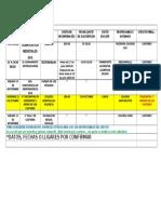 Calendario de Actividades Kastorcitos 2016