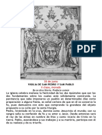 Vigilia San Pedro y San Pablo. 28 de Junio. PDF bilingüe
