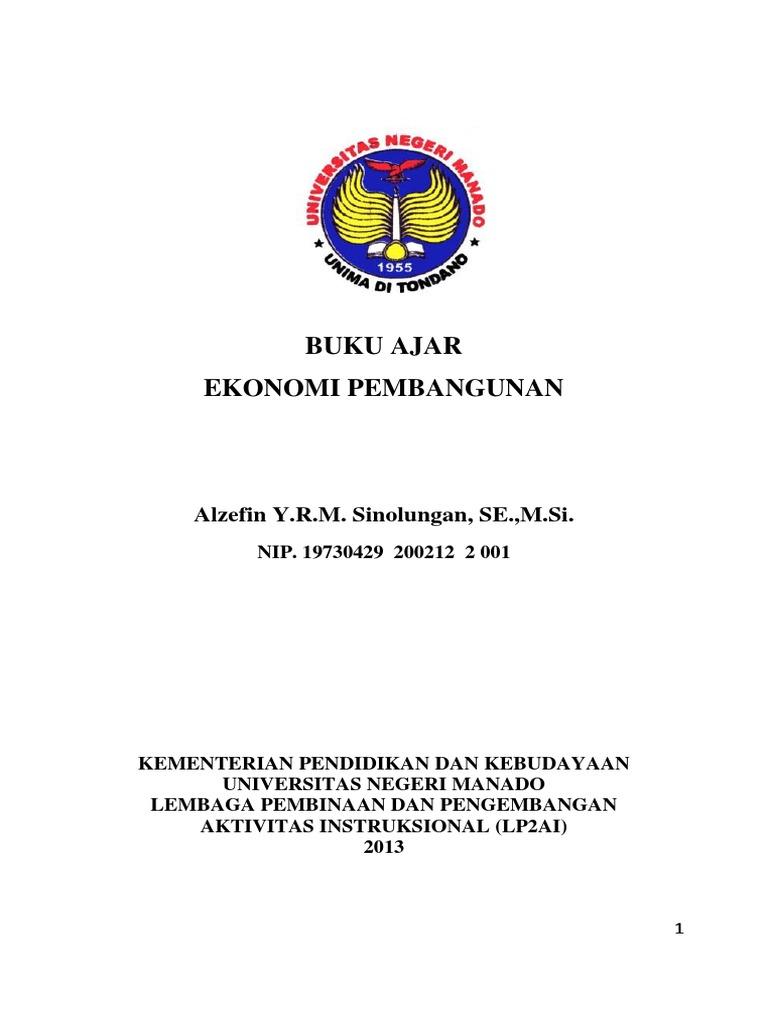 143545886 Buku Ajar Ekonomi Pembangunan Pdf