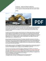 Hydraulic Excavator Overhauls