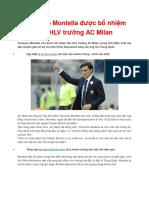 Vincenzo Montella Duoc Bo Nhiem Lam HLV Truong Cua AC Milan