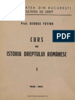 Curs de Istoria Dreptului Romanesc Fotilo