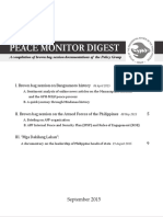 Peace Monitor Digest September 2015
