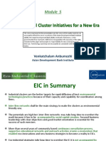 Eco-Industrial Cluster Initiatives for a New Era