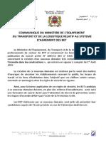 Communique METL Systeme Agrement BET BO D21