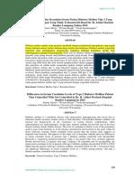 Perbedaan Kadar Kreatinin Serum Pasien Diabetes Melitus Tipe 2 Yang