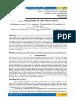 Experimental Studies on Glass Fiber Concrete