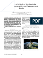 Assessments of DSMs From High Resolution TanDEX-X Imagery With Aerial Photogrammetric Results