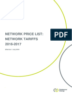 Endeavour-Energy-Network-Price-List