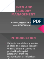 Infection Control on Linen and Laundry Management