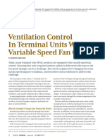 Ventilation Control in Terminal Units With Variable Speed Fan Control