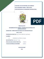 DETERMINACION DE HUMEDAD Y MATERIA SECA EN PRODUCTOS AGROINDUSTRIALES