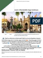 Bollywood Theme Park at Dubai _ Tourism Infopedia