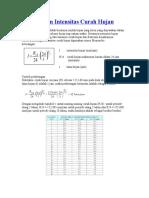 Perhitungan Intensitas Curah Hujan.doc