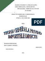 Rada- Impozitele Directe