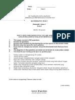 Ujian Semester 1 2010 - Mathematics Year 3 Paper 1
