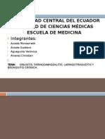 Sinusitis, Laringotraqueitis Bronquitis Cronica y Faringoamigdalitis