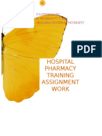 Hospital Pharmacy Training assignment
