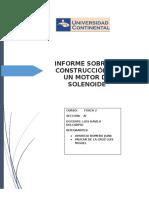 Informe Sobre La Construcción de Un Motor de Solenoide
