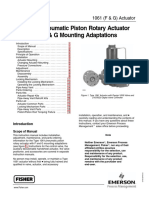 Type 1061 Pneumatic Piston Rotary Actuator