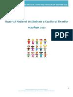 Raport Sanatate Copii 2013