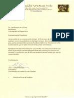 Carta de Renuncia de la Rectora Interina - UPR Arecibo