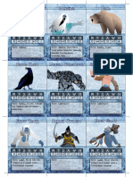 Frostgrave Bestiary Cards Page 1