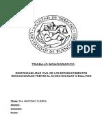 Monografia Responsabilidad de Establecimientos Educativos