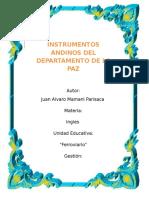 Instrumentos Andinos de La Paz