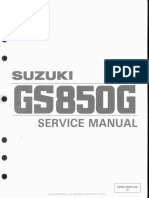 Suzuki GS850 Service Manual