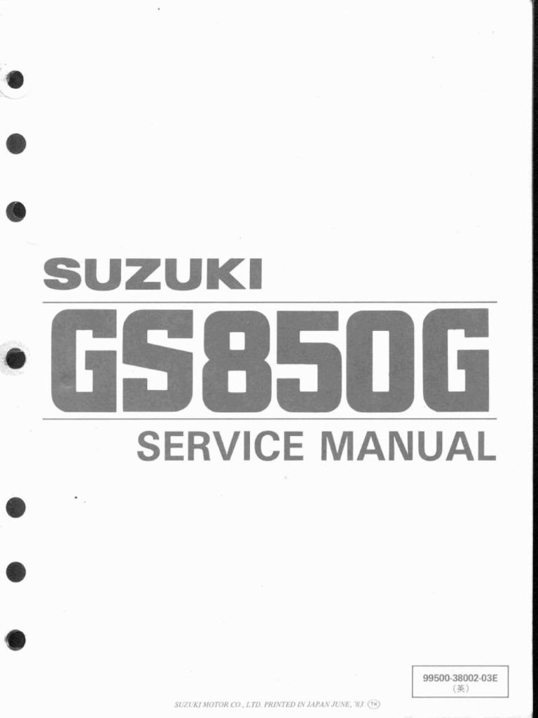 Suzuki Gs850 Service Manual Vehicle Parts Machines Well Mikuni Carb Float Adjustment Likewise 2 Stroke Carburetor Diagram