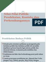 SAP v Nilai-Nilai Politik