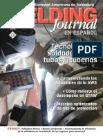 Revista de La Sociedad Americana de Soldadura Aws Tecnologia de La Soldadura Para Tubos y Tuberias.