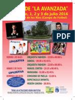 Fiestas del Barrio de la Avanzada 2016