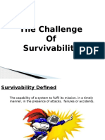 -The Challenge of Survivability