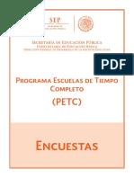 Programa de Escuelas Tiempo Completo PETC _ENCUESTAS_25!5!2016