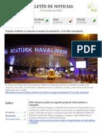 Boletín de noticias KLR 29JUN2016